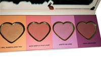 Wholesale 2016 hot High Quality Love Flush Long Lasting hour Blush Wardrobe Palette SIX Shades Presell