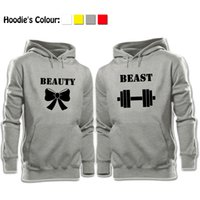 beauty couples - Casual Long Sleeve Tops Beauty and the Beast Bow Dumbbell Printed Pullover Hoodies Couples Lovers Sweatshirt Boy Girl Men Women