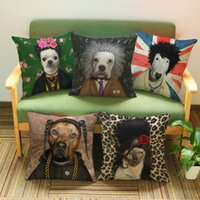 Wholesale x45cm17 x17 personality cartoon animal Star face linen pillow cover decorated wedding hotel clubs office cushions cover