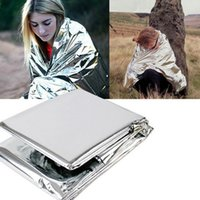 Wholesale Multi function Outdoor Camping Waterproof Emergency Survival Insulation Foil Thermal First Aid Rescue Blanket Disaster Response Tool