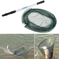 net fishing equipment - 1 M CM Sale round frame Folding Fishing Landing Net Aluminum Section Extending Pole Handle Fishing Tackle Equipment Accessory