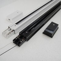 Wholesale 0 M LED Track Lighting Rail for Wires Commercial Track Lighting Fixtures White Black Silver Accessories for Track Install