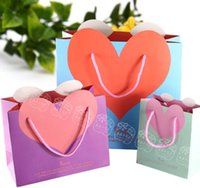 beautiful shares - Portable square paper common occasions heart shaped colored gift bags beautiful romantic and elegant high end wedding gifts in return share