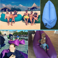 Wholesale 2016 Fast Inflatable hangout Air Sleep Camping Bed Beach Sofa Lounge Only Need Ten Seconds Sleeping bags