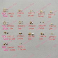 Wholesale 200pcs bag Nail Decoration Square mm Metal Gold D Metal Nail Art Decoration nailheads studs