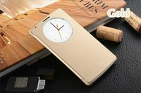 auto circle - Slim Quick Smart Circle View Shell Auto Sleep Wake Function Original Back Flip Cover Leather Case Holster For LG G3 D855 F400k