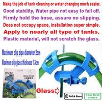 Wholesale Aquarium Fish Tank Water Pipe Filter Hose Mount Tube Holder Blue Firmly hold the hose assure no slipping