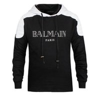 Wholesale BALMAIN SWEATER WITH BIKER DETAILS Men Fashion Hoodie COTTON Long Sleeve Balmain Sweater Men For Birthday Gift