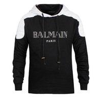 Wholesale BALMAIN SWEATER WITH BIKER DETAILS Men Fashion Hoodie COTTON Long Sleeve Balmain Sweater Men For Birthday Gift