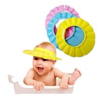 Wholesale Baby Childen Kids Adjustable Shampoo Shower Waterproof Cap Baby Bathing Protection Eva Hat Colors