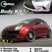 Wholesale Bumper Lip Lips For Alfa Romeo MiTo AR Furiosa Onwork Skirt Deflector Spoiler For Car Tuning The Stig Recommend Body Kit Strip