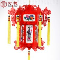 beautiful mansion - 25cm High grade beautiful hanging paper palace lanterns for Holiday Decoration and holiday party Christmas Dream of red Mansions lantern