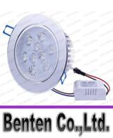 La nueva llegada LED Focos de techo 110V-240V 9W LED Downlight regulable Decoración Lámparas empotradas luz de frío / caliente blanco super brillante LLFA