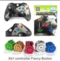 Wholesale 2016 The XBOX ONE handle aluminum metal buttons ABXY power button ONE parts grain of loading