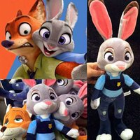 Wholesale 2016 New Zootopia Nick Wilde Embroidery Judy Hopps Plush Toy Stuffed Animals Cartoon Dolls Animation Toys Children Gift CM CM