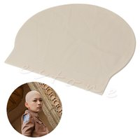 bald head cap - C73 Fake Bald Latex Skin Head Skinhead Bald Unisex Fancy Dress Wig Cap Reusable New