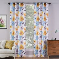 Wholesale C21206 Colorful Curtains for Living Room Europe Style Sheer Kids Curtains Polyester Home Textiles Piece