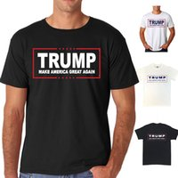 Wholesale Donald Trump Tee Mens Make America Great Again T Shirt Short sleeve Mens Man Tshirt the United States presidential election