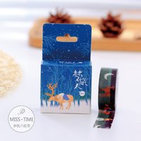 Wholesale Meter Deer Washi Tape Cute Masking Tape Hot Post it Japanese New Stickers Kawaii Stationery School Supplies
