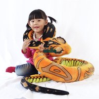 baby snakes - Dorimytrader Novelty Toy cm Giant Stuffed Soft Plush Cartoon Animal Snake Pillow Toy Colors Baby Gift DY60772