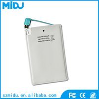 Wholesale mobile power bank slim mini credit card power bank charge mAh C1 factory supply free ABS material g