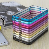 Wholesale 2016 Newest Anti Knock Aluminium Metal Bumper Frame Case Cover for iPhone inch Ultra Thin Slim Case Cover