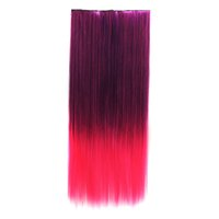 Wholesale Color gradient cosplay straight hair piece hair piece hair piece five card sending and receiving pieces incognito