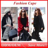 bat wings - 2016 Stylish Women s Bat wing Cape Poncho Cardigan Sweater soft fabric Knit Tops Shawl Coat Colors ouc021