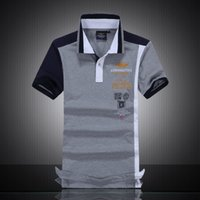 Wholesale New hot summer spell color polo shirt embroidered lapel cotton t shirt