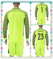Wholesale New Product Uniforms Kit Copa America Jersey Chile C BRAVO HERRERA Soccer Jersey Goalkeeper Green Long Sleeve Jerseys