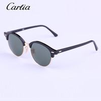 authentic sunglasses - Carfia round Authentic Sunglasses New Arrival Women Sunglasses Plank Frame Flash Mirror Lenses with Original Box FreeShipping