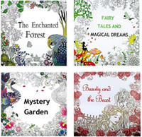 adult mystery books - English Version x25cm Mystery Garden Beauty and Beast Coloring Book For Adult Kids Relieve Stress Drawing Art Book b308