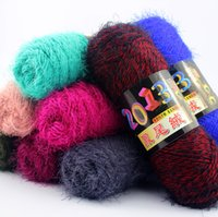 mink cashmere - Mohair Blended Yarn baby knitting wool Hand knitted hook needle work Mink cashmere wool yarn for knitting Crochet threads