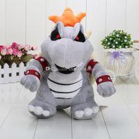 Wholesale 12inch cm Super Mario Bone Kubah dragon Plush Toy Bolster children Cartoon plush soft stuffed dolls for kids