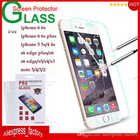 protective film - 9H Premium Tempered Glass Screen Protector Protective Film Guard For iPhone S Plus SE S S Galaxy S6 Edge Plus S5 S4 Note MOQ