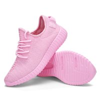 Wholesale Women Couple Casual Fashion hot boost Running shoes Classic Low Kanye West Athletic Boot Breathable Athletic Sports pink Shoes