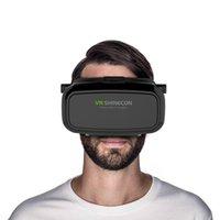Wholesale Shinecon VR Virtual Reality D Glasses Helmets Google inch cardboard iPhone Samsung Smartphone