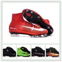 Wholesale 2016 High Quality Mercurial Superfly V FG Mens Soccer Shoes Cleats Cheap Mercurial Superfly fg Football Boots Shoes With Box Size US6