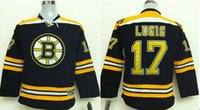 Cheap Boston Bruins Kids Jerseys #17 MILAN LUCIC Black Ice Hockey Jersey Stitched 100% Name,Number and Logos 3770