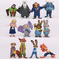 Wholesale In business zootopia styles figures Judi Nick model cartoon toycrazy animal city zootopia Mini decoration doll doll animation