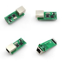 Wholesale Serial Ethernet Tcp Ip - Ethernet Module RS232 Serial to Ethernet Module Tcp Ip UDP Network Converter Module TTL Lan Module with RJ45 Port USR-TCP232-T Q001