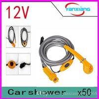 Wholesale 1 X V Camping Portable Shower Outdoors Camping Travel Car Pet Dog Shower Car Washer YX DH