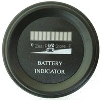 Wholesale Round LED Battery Charge Indicator meter For Golf Cart motorcycle boat V V V V V V V V