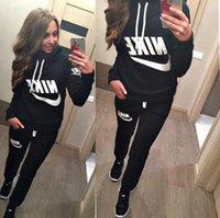 Wholesale 2016 new women s casual sport suit Hoodies Sweatshirts Sets Hoodies Pullover Tracksuits Sweatshirts pants training suits
