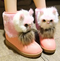 base boots - Winter flat with short boots cat leisure maomao boots large base shoe fashion students