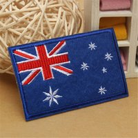 Handmade australian bag - 2PCS Australian Flag Embroidery Patch Sew On Iron On Patch Australia flag Embroidered Badge Applique Handmade for Cloth Bags