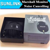 change over - Marshall MONITOR Over Ear Headphones w Microphone Black Portable rock HIFI Noise Cancelling headset can change line ladle