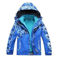 Wholesale Boys girls child jacket hiking in1 Outdoor Camping sports coat fishing tourism mountain jackets waterproof Windproof