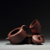 best ceramic artists - YiXing Purple Sand Cute Tea Set Handmade Form Chinese Well Know Artist Best Pot For KungFu Tea And Tie GuanYin Tea