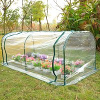 Wholesale 7 x3 x3 Greenhouse Mini Portable Gardening Flower Plants Yard Hot House Tunnel